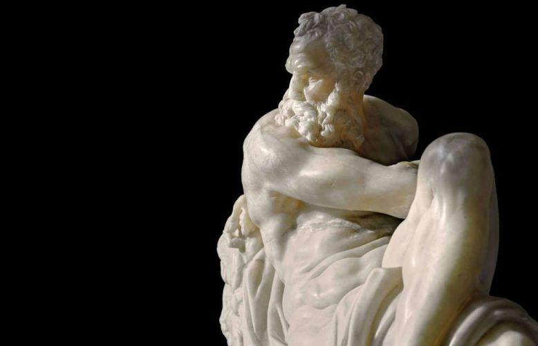 Giambologna nach Michelangelo, Der Tag, Detail, Florenz, vor 1574, Alabaster (Skulpturensammlung © SKD, Foto: Wolfgang Kreische)