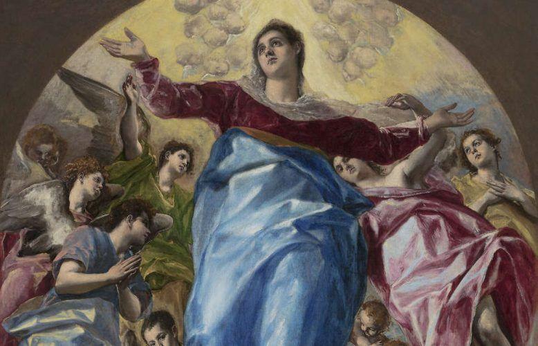 El Greco, Aufnahme Mariens in den Himmel, Detail, 1577–1579, Öl/Lw, 403,2 x 211,8 cm (Chicago, The Art Institute of Chicago / Photo © Art Institute of Chicago)