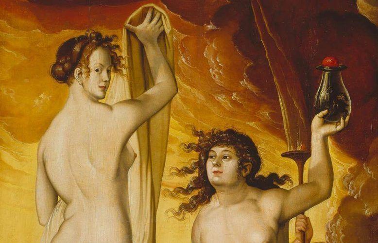 Hans Baldung Grien, Zwei Hexen, Detail, 1523 (© Städel Museum – ARTOTHEK)