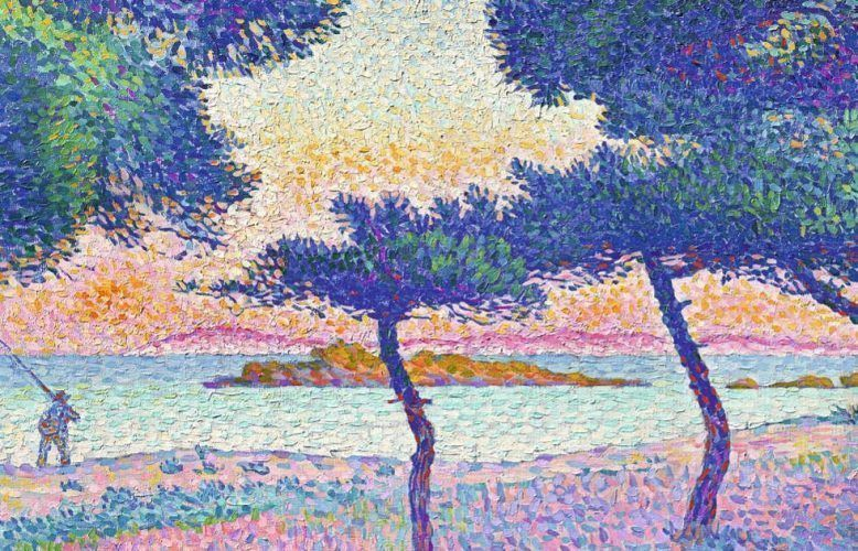 Henri-Edmond Cross, Der Strand von Saint-Clair, Detail, 1896 (Privatbesitz)