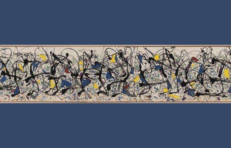 Jackson Pollock, Summertime Number 9A, Detail, 1948, Öl, Emailfarbe, Wandfarbe/Lw, 84,8 x 555 cm (Tate Modern, London)