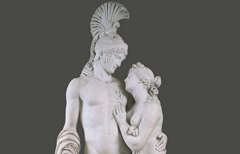 Leopold Kiesling, Mars und Venus mit Amor, Detail, 1809, Carrara-Marmor, Höhe 222 cm (© Belvedere, Wien, Inv.-Nr. 2555)