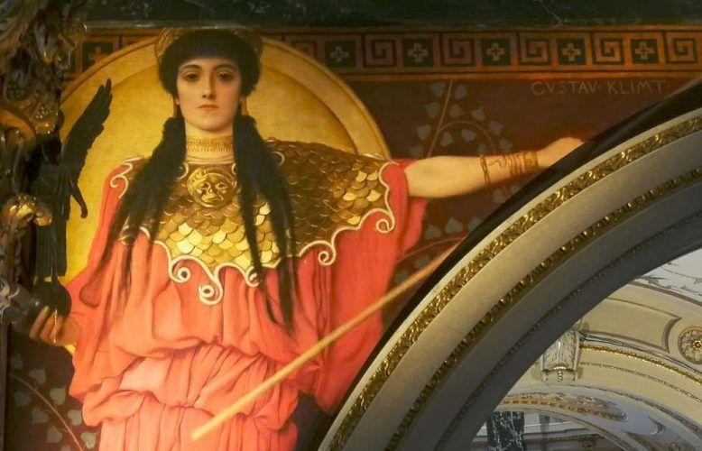 Gustav Klimt, Athena im KHM, Foto © Alexandra Matzner, ARTinWORDS