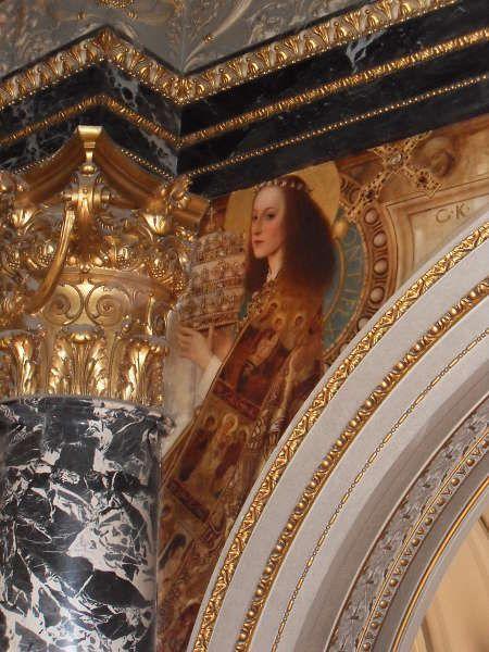 Klimt, Roemisches Quattrocento (Ecclesia), Kunsthistorisches Museum, Stiegenhaus