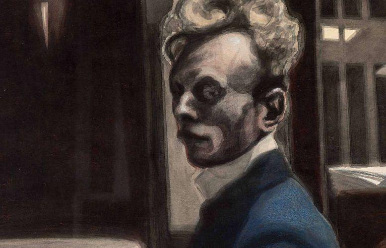 Léon Spilliaert, Selbstporträt, Detail, 3. November 1908