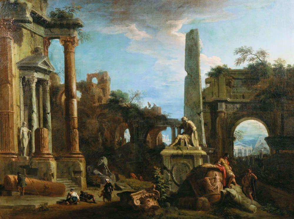Marco Ricci, Capriccio mit römischen Ruinen, um 1729 (Royal Collection Trust/© Her Majesty Queen Elizabeth II 2016)