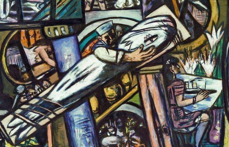 Max Beckmann, Cabins [Kajüten], Detail, 1948, Öl/Lw, 139,5 x 190 cm (Kunstsammlung Nordrhein-Westfalen, Düsseldorf)