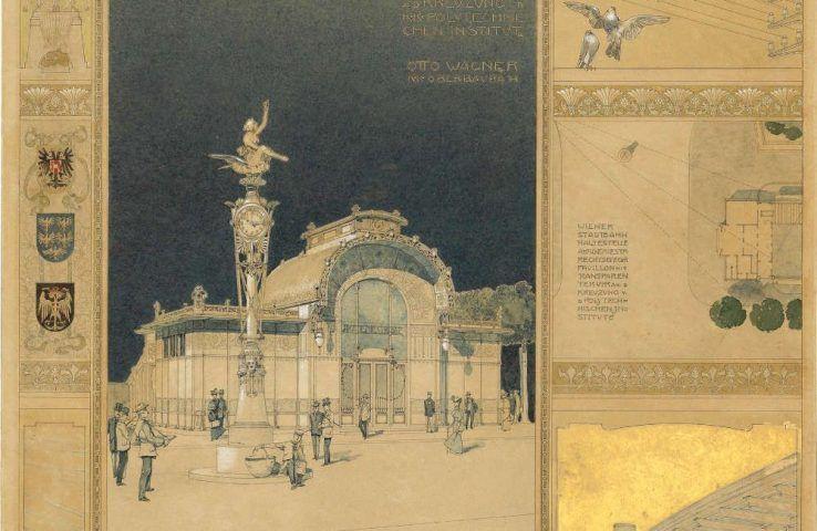 Otto Wagner, Präsentationsblatt zur Stadtbahn, Detail, 1898 © Wien Museum