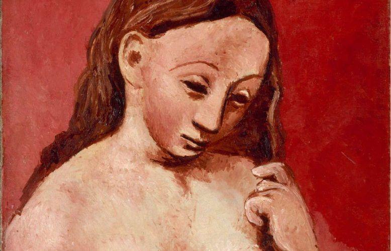 Pablo Picasso, Akt auf rotem Grund, Detail, Paris 1906, Öl/Lw, 81 x 54 cm (Musée de l'Orangerie)