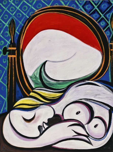 Pablo Picasso, Der Spiegel [Le miroir], 1932, Öl/Lw, 130 x 97 cm (Privatsammlung © Succession Picasso/DACS London, 2017)