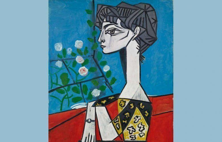 Pablo Picasso, Madame Z (Jacqueline mit Blumen), Detail, 2. Juni 1954, Öl/Lw, 100 x 81 cm (Sammlung Catherine Hutin, © Succession Picasso/VG Bild-Kunst, Bonn 2018)