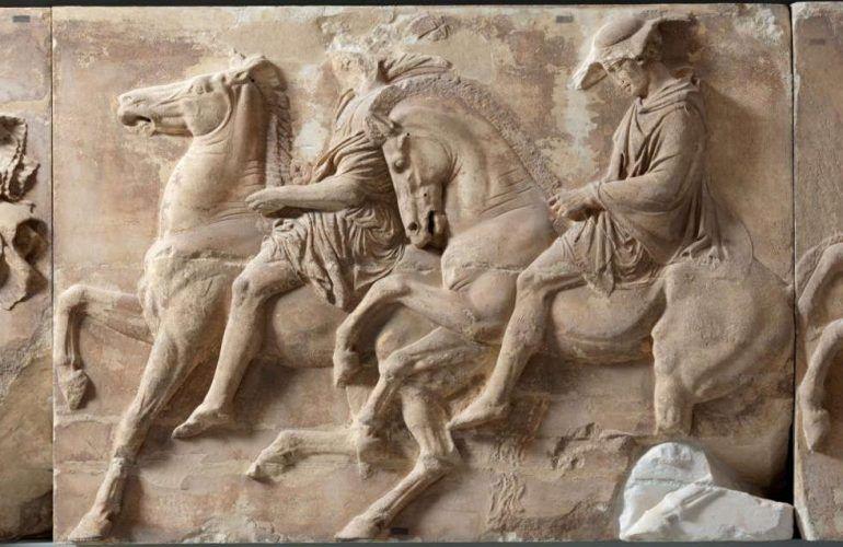 Parthenon Fries, Westwand, Teil IX, Zwei Reiter (© Akropolis Museum, Athen)