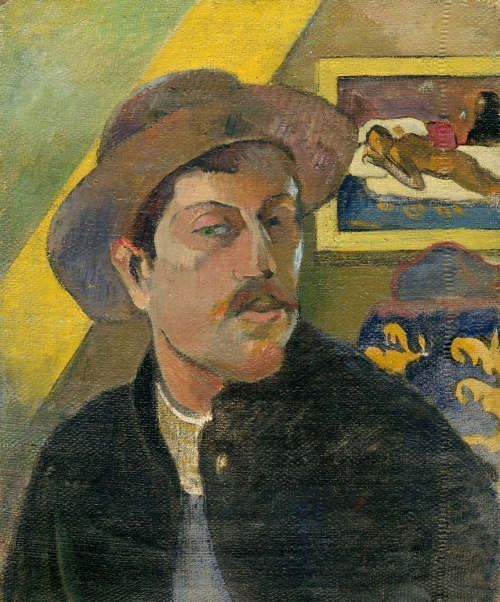 Paul Gauguin, Selbstporträt mit Hut, Winter 1893/94 (Musée d'Orsay, Paris, acquired with the participation of an anonymous Canadian donation, 1966)