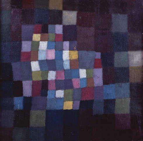 Paul Klee, Blühender Baum (Abstract mit Bezug auf einen blühenden Baum), 1925, Öl auf Karton auf Keilrahmen genagelt; originale, gefasste Rahmenleisten, 39,3 x 39,1 cm (The National Museum of Modern Art, Tokyo © The National Museum of Modern Art, Tokyo)