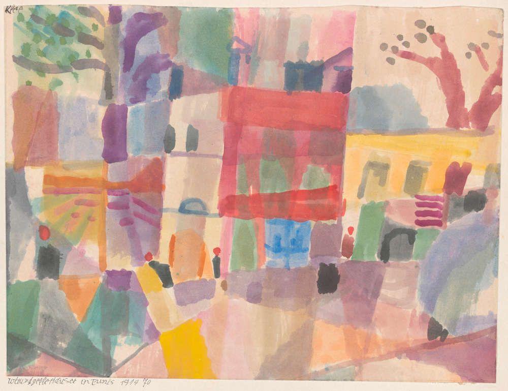 Paul Klee, Rote und gelbe Häuser in Tunis, 1914, 70, Aquarell und Bleistift (Bern, Zentrum Paul Klee)