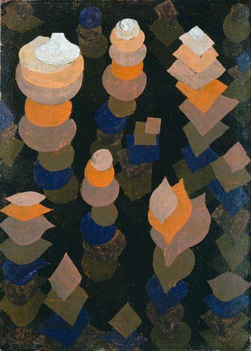 Paul Klee, Wachstum der Nachtpflanzen, 1922, 174, Öl auf Karton, 47,3 x 34 cm (Pinakothek der Moderne, München © Blauel Gnamm – ARTOTHEK)