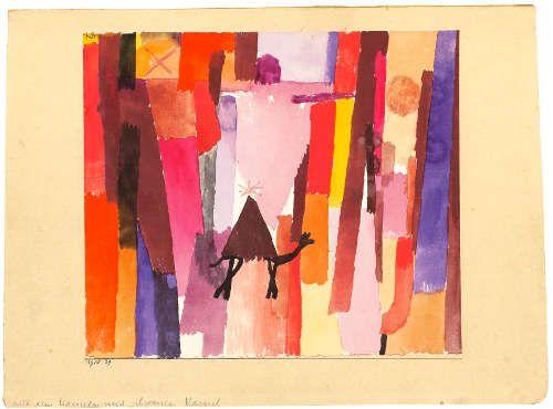 Paul Klee, mit dem braunen Dreieck, 1915, 39, Aquarell auf Papier auf Karton, 20x 23 cm (Kunstmuseum Bern)