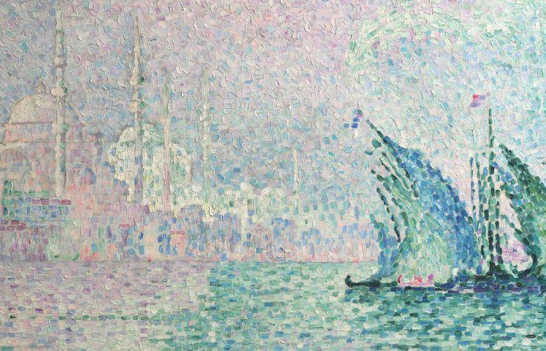 Paul Signac, Konstantinopel: Yeni Djami, Detail, 1909, Öl auf Leinwand (Dauerleihgabe, Stiftung Kunst im Landesbesitz, Foto: Rheinisches Bildarchiv Köln)