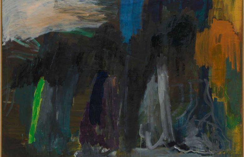Per Kirkeby, Ohne Titel, Detail, 1986, Öl/Lw, 200 x 240 cm (PK 435/01, © Per Kirkeby, Courtesy Galerie Michael Werner Märkisch Wilmersdorf, Köln & New York), Foto: Jörg von Bruchhausen