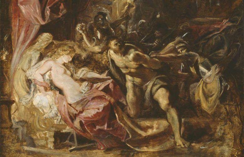 Peter Paul Rubens, Die Gefangennahme von Samson, Detail, 1609/10, Öl/Holz, 50.4 x 66.4 cm (Chicago, Art Institute of Chicago, Robert A. Waller Memorial Fund)