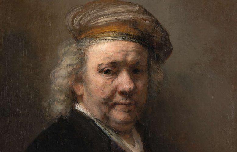 Rembrandt, Selbstporträt, Detail, 1669 (Erworben mit Hilfe der Rembrandt Association und privaten Spnedern, 1947, Mauritshuis, Den Haag)