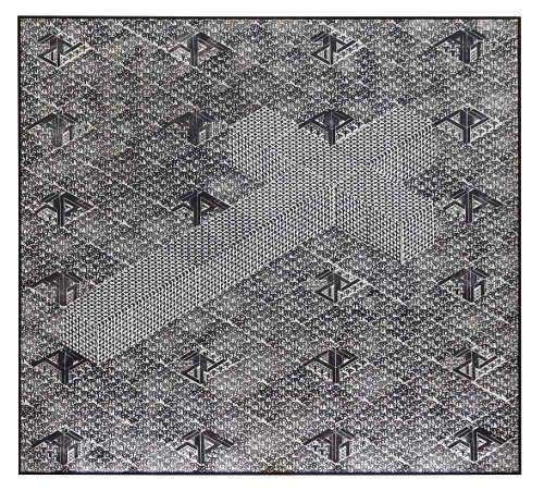 Thomas Bayrle, Verdun (Totentanz), 1987. Stempeldruck auf Leinwand. Foto: © Wolfgang Günzel