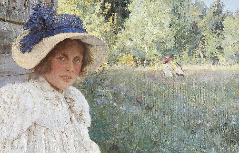 Valentin Serow, Im Sommer, Detail, 1895, Öl/Lw, 74 х 94 cm (Tretjakow-Galerie, Moskau)