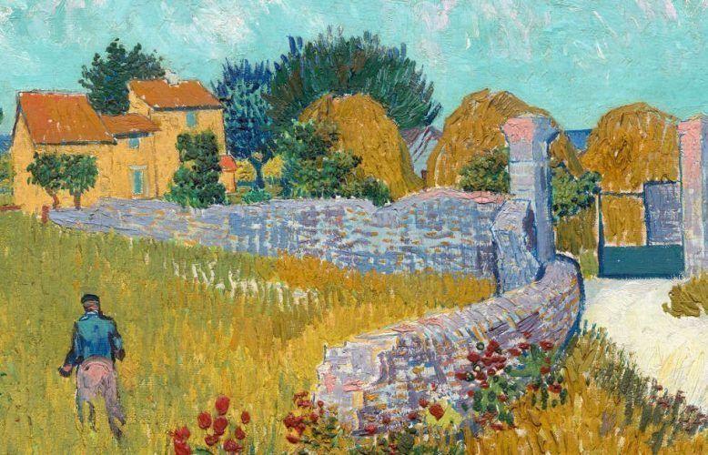 Vincent van Gogh, Der Weg nach Arles, Detail, 1888, Öl/Lw, 46,1 x 60,9 cm (National Gallery of Art, Washington D.C. © National Gallery of Art, Washington, Ailsa Mellon Bruce Collection)