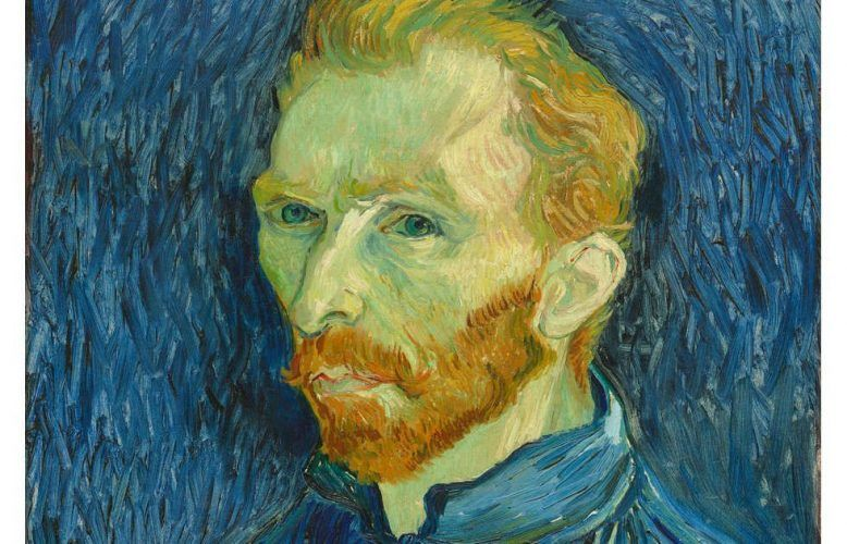 Vincent van Gogh Selbstporträt, Detail, 1889, Öl/Lw, 57.79 × 44.5 cm (National Gallery of Art, Washington, Collection of Mr. and Mrs. John Hay Whitney)