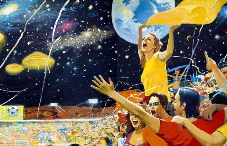 Vladimir Dubossarsky & Alexander Vinogradov, Earth Wins!, Detail, 2004, Öl/Lw, 295 x 390 cm (Collection of Ekaterina and Vladimir Semenikhin © Vladimir Dubossarsky & Alexander Vinogradov)