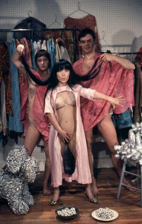 KUSAMA Fashion show at her boutique, New York, 1968 © Yayoi Kusama, courtesy Ota Fine Arts, Tokyo/Singapore, Victoria Miro Gallery, London, David Zwirner, New York