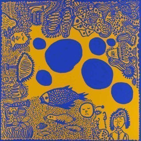 Yayoi Kusama, Blue Polka Dots, 2010, My Eternal Soul serie, 194 x 194 cm, Yayoi Kusama.