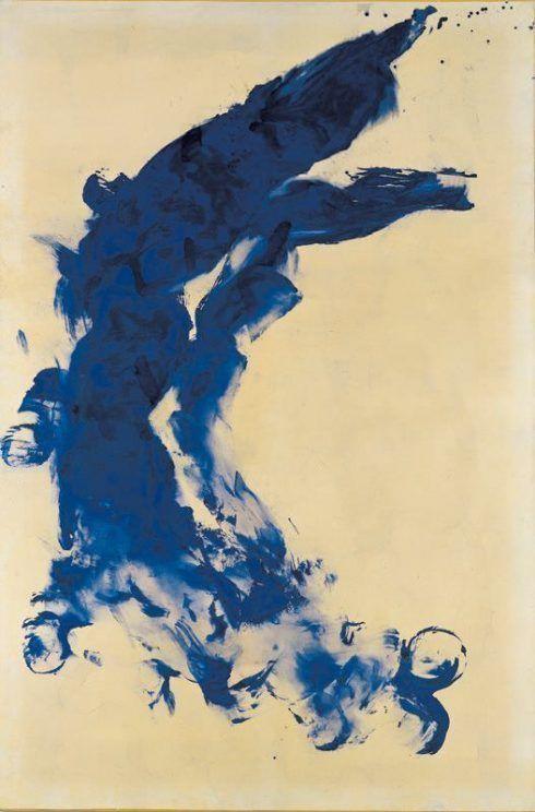 Yves Klein, ANT 130, Anthropometrie ohne Titel, 1960, Private Collection © VBK, Wien 2007