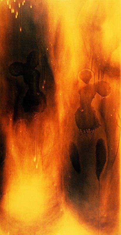 Yves Klein, F 80, Feuerbild ohne Titel, 1961, Private Collection © VBK, Wien 2007