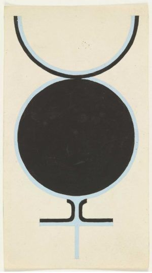 Jo Baer, Sex Symbol, 1961, Gouache und Bleistift auf Papier / Gouache and pencil on paper, 15.3 x 8.3 cm (The Museum of Modern Art).
