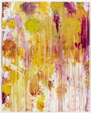 Cy Twombly, Untitled, 2001, Synthetische Farbe, Kreide und Collage auf Papier, Synthetic polymer paint, crayon, and cut-and-pasted paper on paper, 123.2 x 98.4 cm (The Museum of Modern Art).