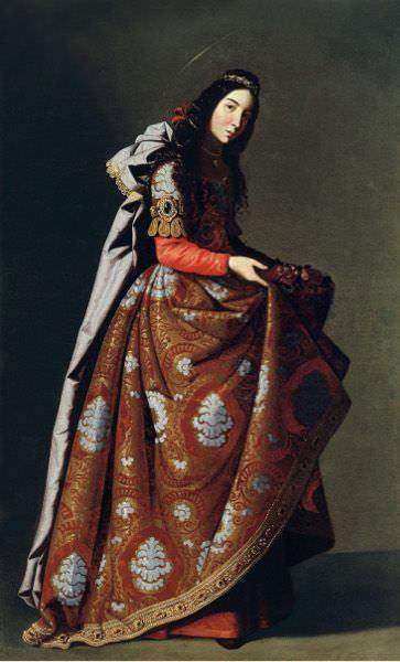 Francisco de Zurbarán, Heilige Casilda, um 1630-1635, Öl auf Leinwand, 171 x 107 cm (Museo Thyssen-Bornemisza, Madrid).