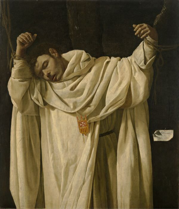 Francisco de Zurbarán, Hl. Serapion, 1628, Öl auf Leinwand, 120,2 x 104 cm, Hartford, Wadsworth Atheneum Museum of Art, CT. The Ella Gallup Sumner and Mary Catlin Sumner Collection Fund © Partial and promised gift of Barney A. Ebswroth Collection.